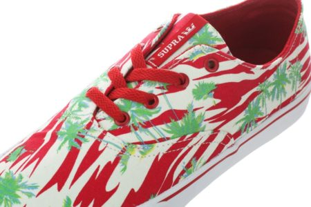 Supra Wrap Red Print White