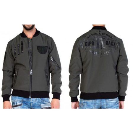 Cipo and Baxx Jacket CJ138 in khaki