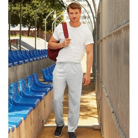 Fruit Of The Loom Lightweight Jog Pants Grey 64-038-0