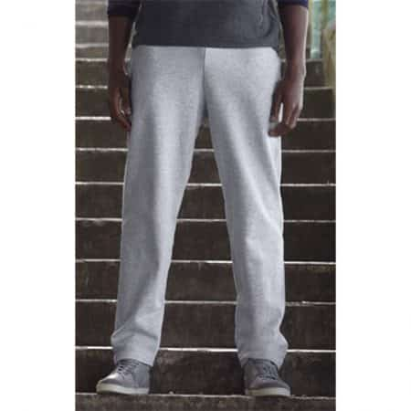 Fruit Of The Loom Open Hem Jog Pants Grey 64-032-0