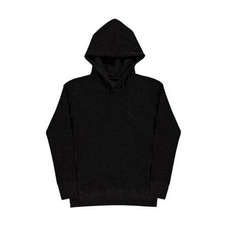 Nakedshirt Luna Hooded Sweat Grey Black SWF-LSL-H-PC410