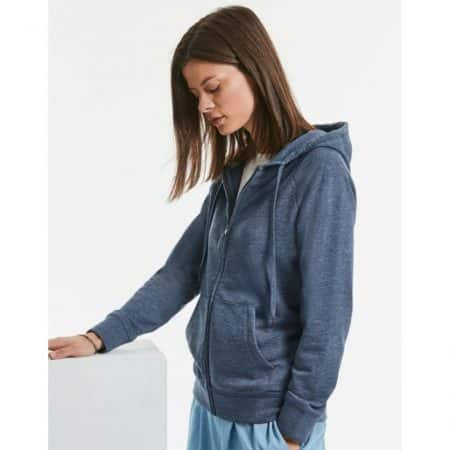 Russell HD Zipped Hood Bright Navy Marl 20700