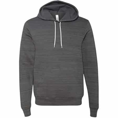 Unisex Poly-Cotton Pullover Hoodie Dark Grey 3719