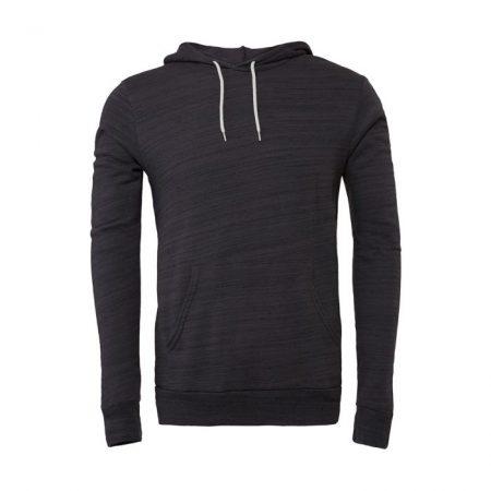Unisex Poly-Cotton Pullover Hoodie Dark Grey 3719