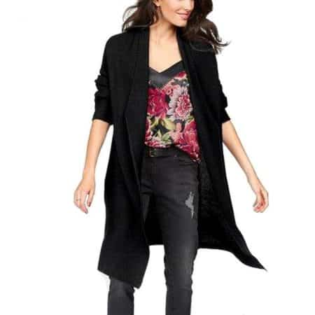 Aniston Long Cardigan Black