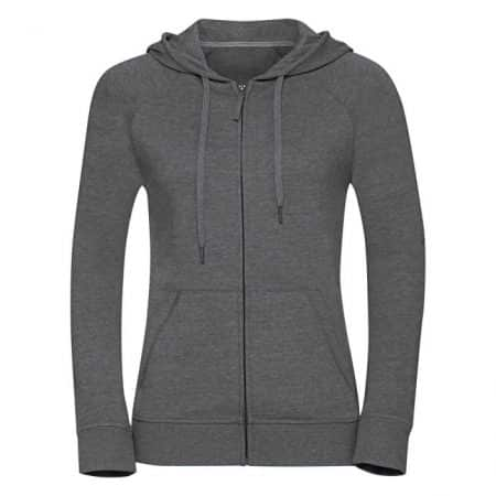 Russell HD Zipped Hood Sweat Grey Marl 0R284F0GYS Γυναικεία ζακέτα