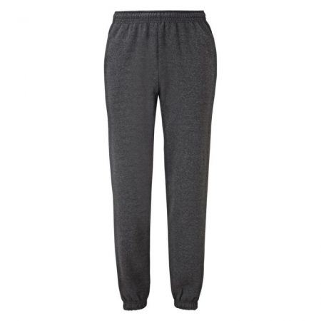 FruitOfTheLoom Classic Elasticated Cuff Jog Pants Dark Heather Grey 640260HD Ανδρικό κλασικό παντελόνι φόρμας