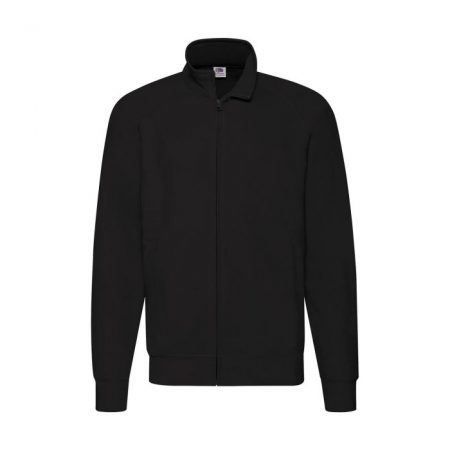 Fruit of the Loom Lightweight Zip Sweat Jacket 62-160-0-Black Ανδρική ζακέτα sweat