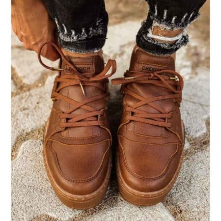 Chekich Mens Sneakers C067 Camel